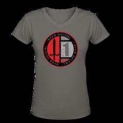 Women's V-Neck T-Shirt by Ryan Dalziel