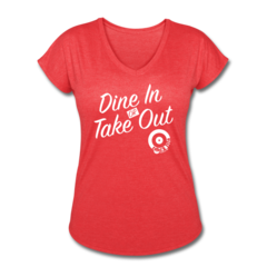 Women's V-Neck Tri-Blend T-Shirt by Jessica Schultz