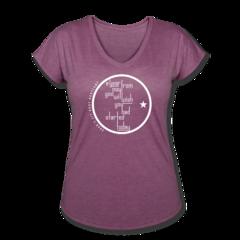 Women's V-Neck Tri-Blend T-Shirt by Egan Inoue