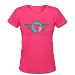 Women's V-Neck T-Shirt by Clara Guerrero